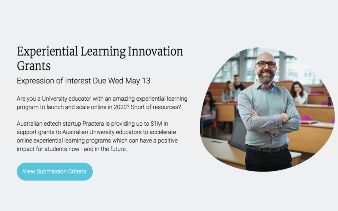 Practera – $1M grant program for digital experiential learning innovation