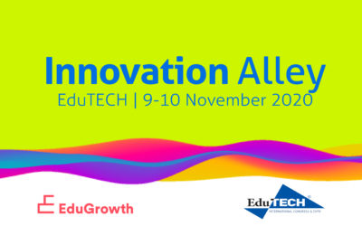 Exhibit with EduGrowth's Innovation Alley at EduTECH 2020