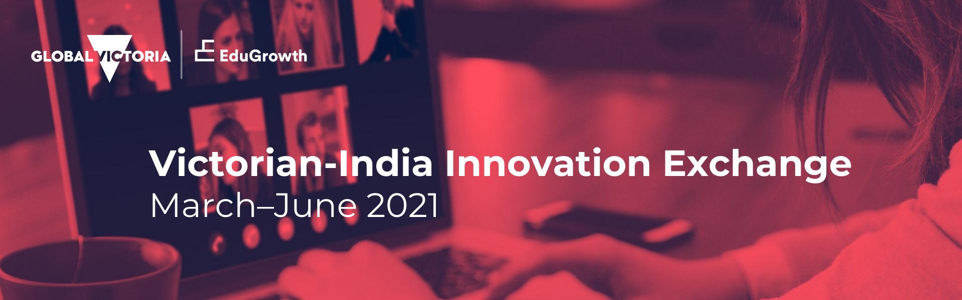 EduGrowth Victorian India Innovation Exchange - Pink Banner