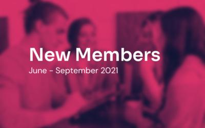 New Members: June — September 2021
